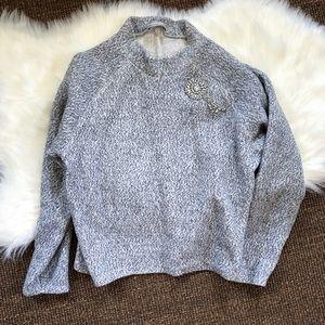 Zara Mock-neck Light Sweater | Size L